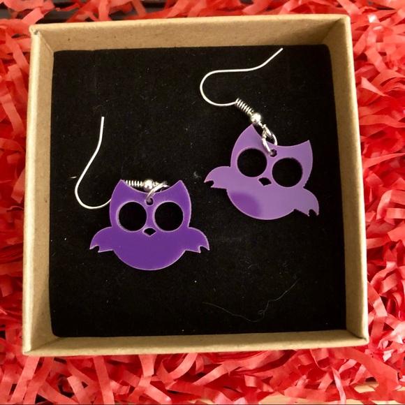 🎃 4 for $20 🆕 Purple Owl Earrings